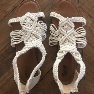 Crochet zip back sandals